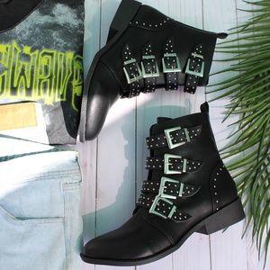 🆕//The Coachella Collection// Black combat Boots